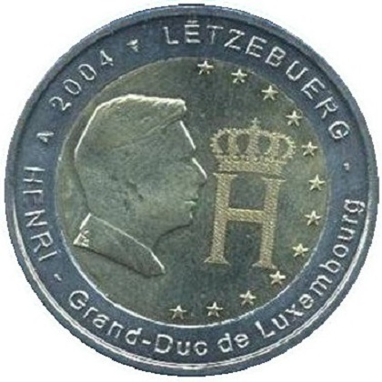 2 euros commémorative 2004 Luxembourg Grand-Duc Henri