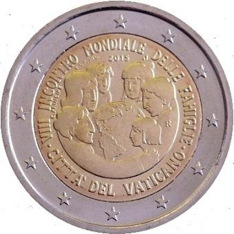 2 euro VATICAN 7e Rencontre Mondiale Familles Numisletter