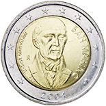 2 euros commemorative 2004 san marino