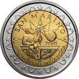 2 euros commemorative 2005 san marino
