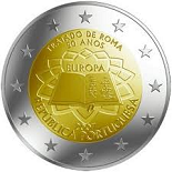 2 EUROS COMMEMORATIVE PORTUGAL 2007 50 ans TRAITE DE ROME
