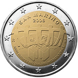 2 EUROS COMMEMORATIVE SAN MARINO 2008