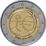 2 euros commemorative allemagne 2009 10 ans zone euro
