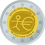 2 euros commemorative france 2009 10 ans de l-euro