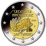 2 EUROS COMMEMORATIVE SAN MARINO 2009