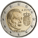 2 EUROS COMMEMORATIVE LUXEMBOURG 2010