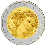 2 EUROS COMMEMORATIVE SAN MARINO 2010