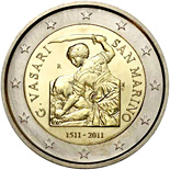 2 EUROS COMMEMORATIVE SAN MARINO 2011