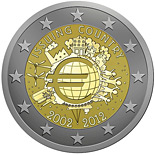 2 euros commemorative 10 ans  2002 2012 UEM