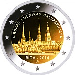 2 euros lettonie 2014 commemorative