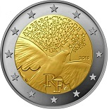 2 euros france 2015 commémorative 70 ans de âix en europe