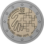 2 euros 2015 portugal croix rouge