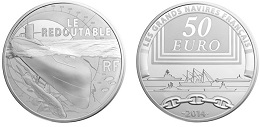 50 euros argent 2014 le redoutable