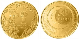50 euros en or 2014 coupe du monde de football 2014 fifa